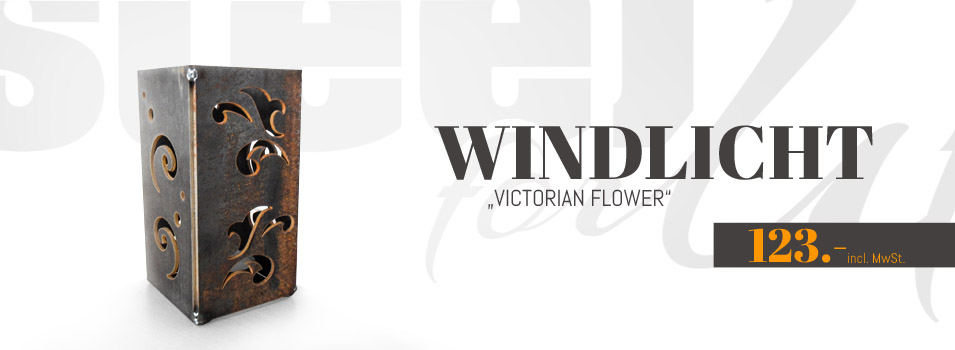 Windlicht Viktorian Flower